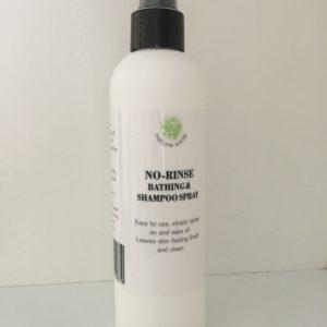 No-rinse bathing & shampoo spray
